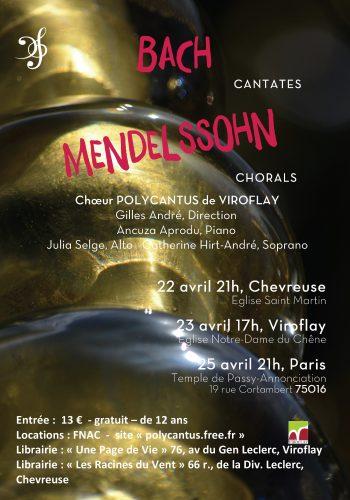 Concert Bach - Mendelssohn Motets et Cantates