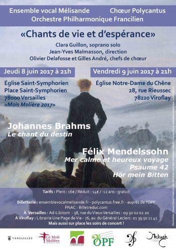 Concert Brahms et Mendelssohn Viroflay - Mantes
