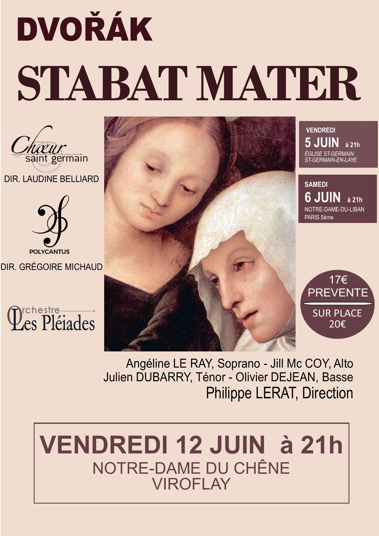 Concert Stabat Mater de Dvorak Viroflay 12 Juin 2020